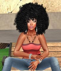 Faith Aljon - Kinky Curly (Faith Aljon) Tags: natural afro secondlife virtual machinima denim virtualworlds faithaljon