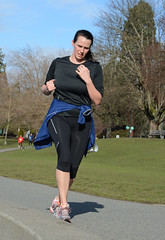 First Half Feb 16 2014 101807 (gherringer) Tags: canada vancouver race outdoors athletics downtown bc exercise britishcolumbia competition running seawall runners englishbay stanleypark colourful westend fit active bibs 211km 131mi vanfirsthalf
