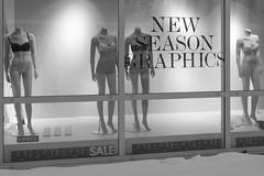 Alta - Graphics (Tony McLean) Tags: monochrome norway blackwhite mannequins humour alta streetscenes finnmark leicamonochrom 35summiluxfle ©tonymclean2014