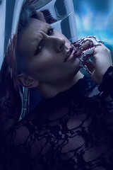 Cover Story for Ellements Magazine (Chris Rushton Photography) Tags: lighting boy fashion dark intense model makeup dramatic mysterious editorial magazinecover edgy alexstoddard
