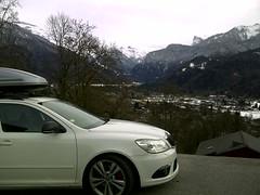 Samoens - Haute Savoie French Alps (arrival) (lotus-gt) Tags: winter snow ski france alps estate snowboard hr rs combi kombi tyres skoda octavia vrs hautesavoie samoens thule wagen coilover