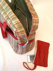 weekender bag, bow zipper pouch (stephzerbeART) Tags: bag sewing mother gift weekender amybutler wristlet zipperpouch handmadesewnbag
