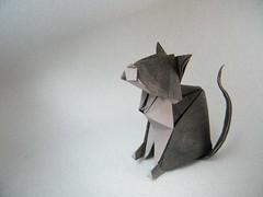 Cat - Fumiaki Kawahata (Rui.Roda) Tags: cat origami chat gato papiroflexia katz kawahata fumiaki