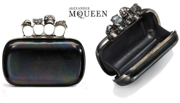 alexander mcqueen knuckle clutch