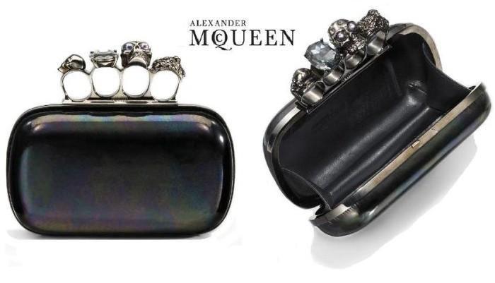 alexander mcqueen knuckle clutch