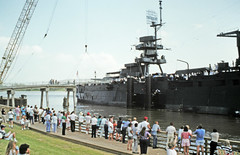 BB-35 Returns to San Jacinto, July 26, 1990 r (Patrick Feller) Tags: battleship texas uss bb35 new york class dreadnought ship warship national register historic places san jacinto monument battleground preservation centennial hundredth birthday festival celebration united states navy veterans sailors north america