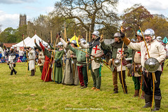 [2014-04-19@15.33.17a] (Untempered Photography) Tags: history costume salute helmet medieval bow weapon shield archery reenactment combatant canonef50mmf14 perioddress polearm buckler gambeson poleweapon untemperedeye canoneos5dmkiii untemperedeyephotography glastonburymedievalfayre2014