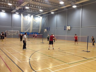 One of our adult badminton coaching sessions