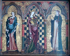 The Thornham Parva Retable, c.1335 (the right panel--of 3), The Church of St Mary, Thornham Parva, Suffolk (Spencer Means) Tags: retable altar altarpiece painted monastery thetford dominican saint edmund margaret petermartyr right panel art romanesque spencermeans hunkypunk middleages eastanglia england uk