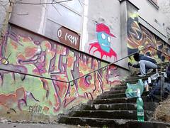 po schodoch (cela_sklon) Tags: art abandoned wall graffiti industrial factory czech space area dub tos esko 2015 elkovice sklon