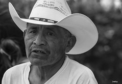 Mexican in a Hat (mistersteeb) Tags: portrait man male hat mexico blackwhite mexican canoneos600d mistersteeb stevecannings