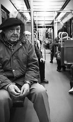 Zenbat buru hainbat aburu (Gartzi Deustu) Tags: old people man train hands metro bilbao beret