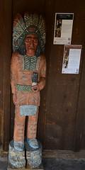 DSC_8469 (Copy) (pandjt) Tags: arizona sculpture statue sedona carving publicart cigarstoreindian