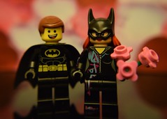 Emmetman and Batstyle  #Love (Lesgo LEGO Foto!) Tags: flowers flower love comics fun toy toys lego bat batman batgirl minifig collectible minifigs dccomics omg collectable minifigure minifigures legophotography legography