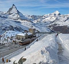 Gornergrat station (geoff7918) Tags: switzerland gornergrat zermatt matterhorn 3054 bhe48 24122014