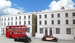 Terraced houses (kingsway john) Tags: houses building london scale models card kit oo gauge kingsway terraced 176 terb terbf