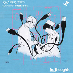 Tru Thoughts: Wires. Album cover (Hutch.) Tags: music screenprint brighton cd vinyl shapes jazz wires soul hiphop hutch albumart albumcoverart truthoughts internalerror