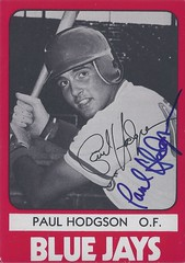 1980 TCMA - Paul Hodgson #5 / #543 (Outfielder) - Autographed Baseball Card (Knoxville Blue Jays / Southern League) (card #2) (Treasures from the Past) Tags: auto blue toronto sign vintage cards baseball graf graph autograph jays 1980 signed southernleague paulhodgson tcma knoxvillebluejays