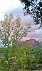 GentleSunset (Kate McGahan) Tags: trees sunset sky mountain view pastel sedona redrocks
