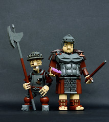 Corporal Nobbs and Sergeant Colon (Pate-keetongu) Tags: lego watch pratchett discworld moc