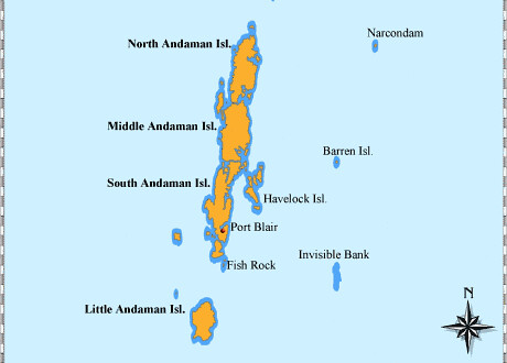 andaman islands map