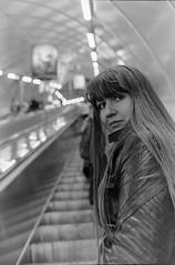 (s.luzin) Tags: bw film girl metro kodak zuiko olympus35sp