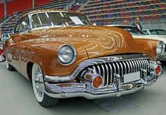 1952 Buick Eight  Roadmaster (crusaderstgeorge) Tags: cars buick sweden chrome sverige eight 1952 americancars roadmaster oldgold sandviken gvleborg americanclassiccars arenawheels crusaderstgeorge 1952buickeightroadmaster