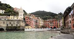 Vernazza-Harbour (cheryl strahl) Tags: italy harbor colorful europe village harbour medieval cinqueterre hillside vernazza quaint breakwater villagesquare italianriveria