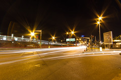 Roads of London (7 of 18) (johnlinford) Tags: city longexposure england urban london night landscape lights poplar unitedkingdom 7d gb docklands canonefs1022 canoneos7d