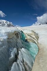 Stream (Lee Petersen) Tags: blue snow ice water alaska stream glacier alaskarange
