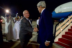 Ambassador Joseph Westphal Greets Secretary John Kerry at Jeddah International Airport (U.S. Department of State) Tags: jeddah johnkerry saudiarabia josephwestphal adelaljubeir muhammadbinnayef