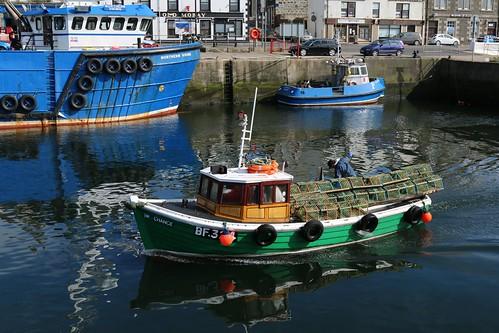 22nd April 2016. Chance BF32 entering Macduff Harbour, Banffshire, Scotland.