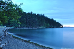 2016-06-08 Sunset Beach (Long Exposure)  (2048x1360) (-jon) Tags: longexposure sunset sky cloud water landscape filter shore skagit sunsetbeach pugetsound bluehour sanjuanislands anacortes washingtonstate washingtonpark skagitcounty salishsea fidalgoisland neutraldensity seascpae rosariostrait variableneutraldensityfilter a266122photographyproduction
