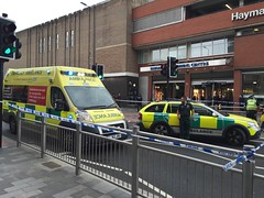 Charles Street Leicester (Emergency_Vehicles) Tags: street bus accident leicester pedestrian charles ambulance east service haymarket midlands rtc attending