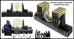 Multi functional Desk Lamp that can be used as a bookshelf, art piece to store and charge your tablet and phonewith dual USB charger. (https://www.facebook.com/loftyideas4u) Tags: light urban black glass lamp bulb modern loft globe hands industrial ebay phone sale oneofakind books bookshelf storage usb etsy tablet edison tablelamp facebook sneakpeek steampunk glassglobe multifunctional instagram uploaded:by=instagram dualcharger loftyideas4u desklanp