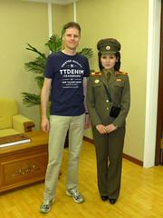Our Guide at the Military Museum (Daniel Brennwald) Tags: museum northkorea dprk militarymuseum kimilsung nordkorea koreawar pyongsong militarysite