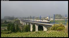Trenhotel en St. Sadurní (javier-lopez) Tags: ffcc railway train tren trenes adif renfe viajeros largadistancia trenhotel galicia 252 mm dt mandomúltiple dobletracción vigo acoruña barcelona ths7 s7 lav altavelocidad stsadurní anoia stsadurnídanoia 21052016