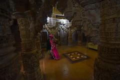 (Rick Elkins Trip Photos) Tags: woman india building temple worship religion jain jaisalmer rajasthan