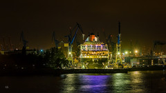 Queen Mary II (Andys-eyecatcher) Tags: instagramapp square format nature art canon europe travel photography flickr city new geo landscape cityscape detail long time exposure uww me longtimeexposure night light hamburg queen
