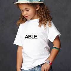 able t-shirt (rethinkthingsltd) Tags: baby white smart children design kid diverse adult unique free tshirt parry pride southern lgbt statement strong local northern fit typographic able ilsa rethinkthings