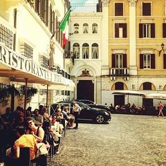 quello che rimane de la #dolce #vita #romana. (sburlat) Tags: square squareformat rise iphoneography instagramapp uploaded:by=instagram