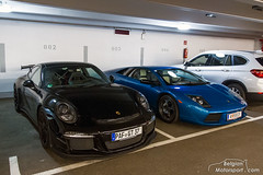 Porsche 991 GT3, Lamborghini Murciélago 40th Anniversary (belgian.motorsport) Tags: 40th anniversary meeting porsche lamborghini supercar treffen murciélago 991 gt3 2016 velden sportwagentreffen