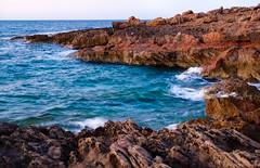 Where Land & Sea Unite (Manos Migomis) Tags: longexposure sea landscape rocks waves outdoor cliffs greece crete goldenhour selles fujifilmxt1 fujinonxf35f2rwr