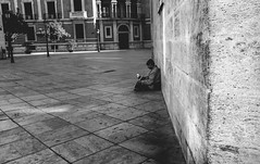 Pain (John Walters vl) Tags: street city blackandwhite white black home valencia look lost handle photography death see pain photographer sad homeless streetphotography explore blacknwhit