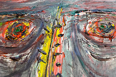 Franz Ringel: 2. Selbstportrt, 1986 (Anita Pravits) Tags: selfportrait museum eyes exhibition augen selbstportrait niedersterreich ausstellung klosterneuburg loweraustria esslmuseum franzringel