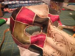 REPAINTING A VENETIAN MASK (Diogioscuro) Tags: mask venetian