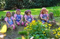 Parkgeflster ... (Kindergartenkinder) Tags: annemoni tivi blumen personen dolls himstedt annette ilce6000 sony essen park gruga kindergartenkinder milina sanrike