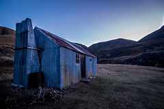 Boundary Creek Hut (Jack Haughton) Tags: evening hiking canterbury huts nz backcountry southisland bluehour tramping hakatere jackhaughton boundarycreekhut