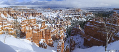 Bryce Canyon Winter Panorama (Alfred J. Lockwood Photography) Tags: winter snow nature landscape utah nationalpark sandstone afternoon brycecanyon hoodoos sunsetpoint brycecanyonnationalpark alfredjlockwood