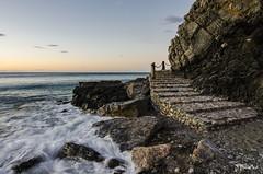 Escaleras al mar (J Fuentes) Tags: sea beach stairs mar agua flickr waves playa el save amanecer granada olas escaleras muerto almuecar costatropical cotobro